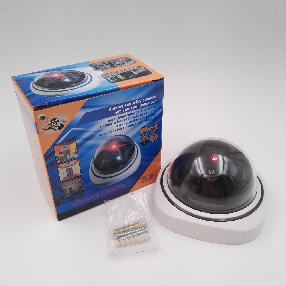 Dome CCTV Dummy <strong>Camera</strong>/Dome Fake <strong>Camera</strong> with Red Flashing Light