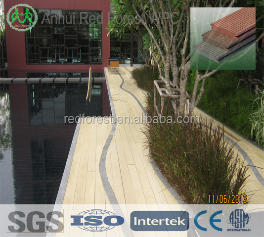 timber composite wpc hollow pool decking floor/wpc decking panel