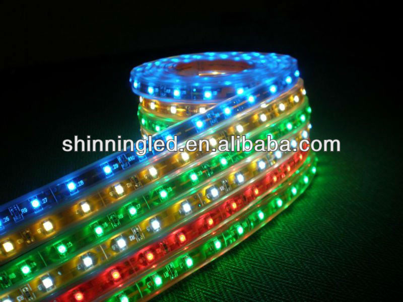 Hot sale 3528 220V RGB LED flexible strip light