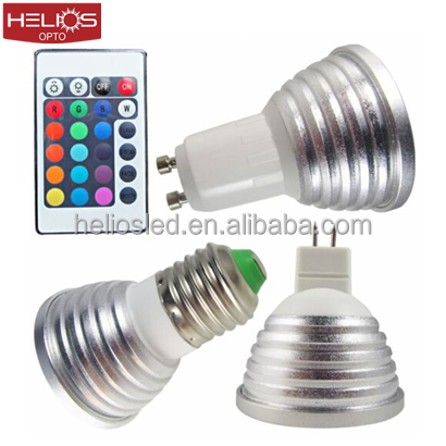 MR16 GU10 E27 led light bulb 16 colors changing led light bulb with remote control