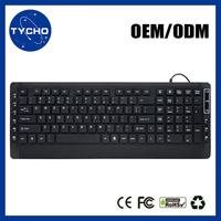 Hot Sales Ergonomic Wired Keyboard New Style Wired Keyboard USB Computer Gaming Wired Keyboard