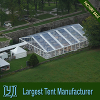 Transparent wedding marquee tents with clear pvc roof cover