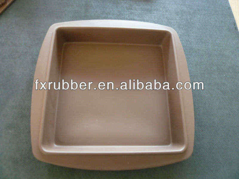 OEM <strong>manufacture</strong> 100% silicone fondant small square pot mould
