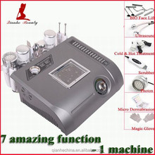 Multifunction ultrasonic face scrubber and diamond dermabrasion