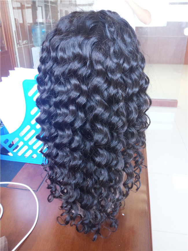 Wholesale Soft Virgin Authentic Indian deep wave extension Human Hair Wigs Manufacturer In India Vendors