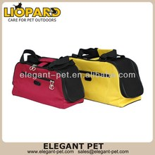 New style promotional cool dog carrier with leather