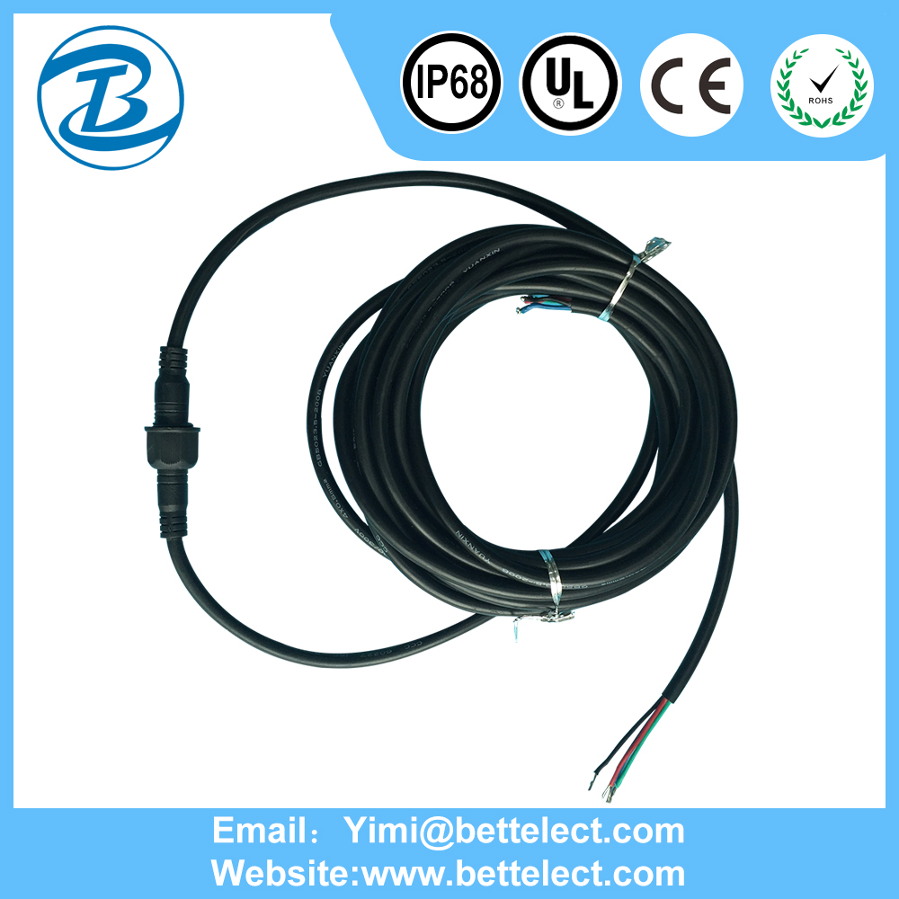 IP68 China Suppliers Factory Price List Waterproof Wire Power 3m Connectors