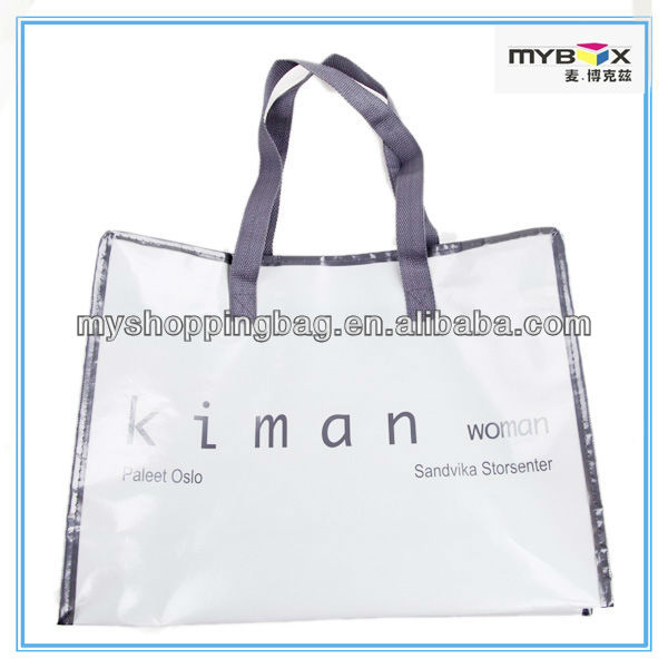 PP Non-Woven Tote Shopping Bag with Zipper
