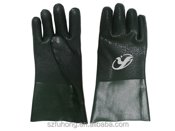 "CE approved 16"" PVC slip resistant safety industry gloves for sale"