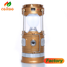 2017 Hot sales Handle lamps Rechargeable Torch Solar power led flashlights for camping