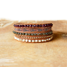 New Hot Style 5 Layer Malay jade and Seeds Beads Weaving Wrap Bracelets