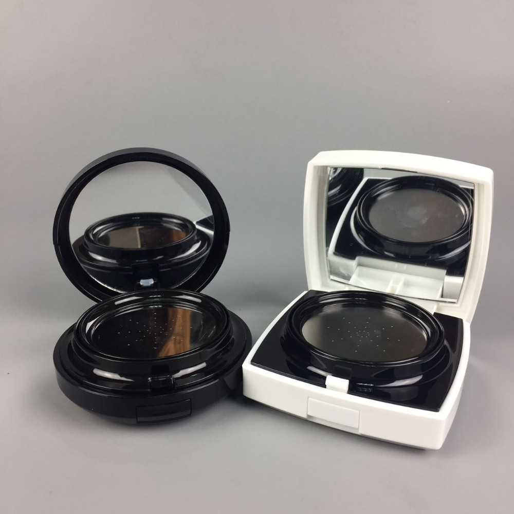 Best Selling 15g white black round square acrylic cosmetic airless cushion BB cream case / airless cream jar