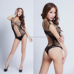 Ladies Sexy Open Crotch Crotchless Fishnet Sheer Bodystocking