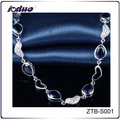 Free sample crystal charm drop shape bracelet for girlfriend