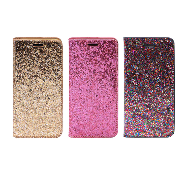Luxury Bling Flip PU Leather Wallet Cell Phone Case Cover For IPhone 5 5S 6