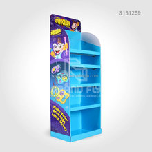 Ball Pen Cardboard Corrugated Retail Display Stand, POP Shopping Mall Rack for Stationery Color Pen