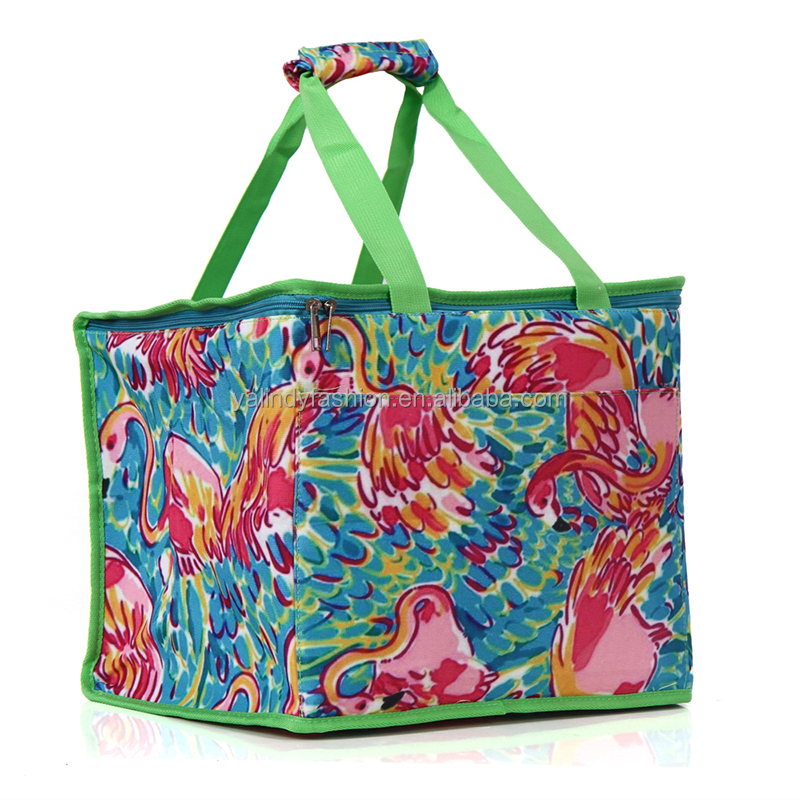 Large Monogrammed Lilly Insulated Beach Cooler Bag For Summer