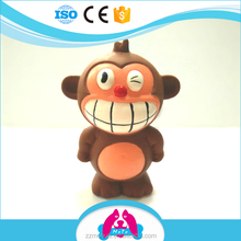 Popular Eco-friendly Soft Natural Latex Sound Big Smile Monkey Pet Toy Dog Toy Cat Toy