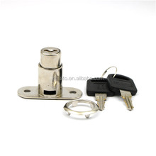 Nickel Finish Zinc Alloy Cylinder Push Lock for Slidng Door