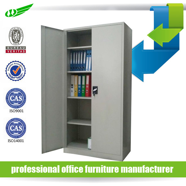 2 door office furniture book file display foldable iron cupboard