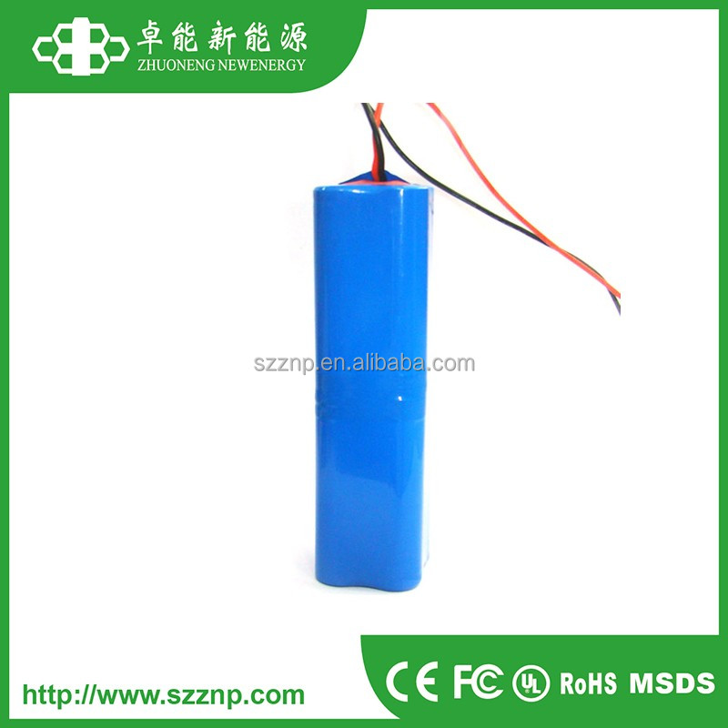 14.8v Rechargeable Battery Pack 4.4Ah 4s2p 14.8v 18650 Lithium ion Battery Pack 4400mah