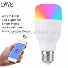 Wifi Remote Control Smart LED Bulb E27 RGB Light For echo Alexa Google Home