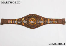 2014 stylish golden beaded belt in fashion accessories (QSNB-005)