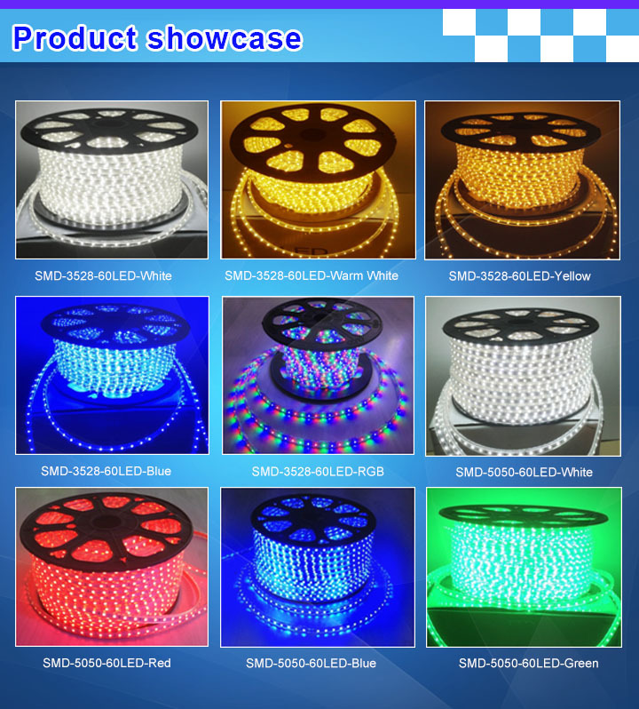 High tension led strip 3528 600leds roll rgb