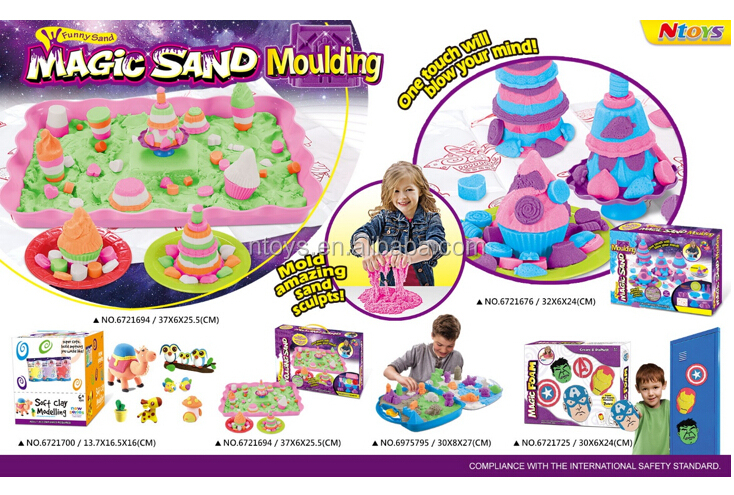 2017 New magic sand easy to moulding your creative