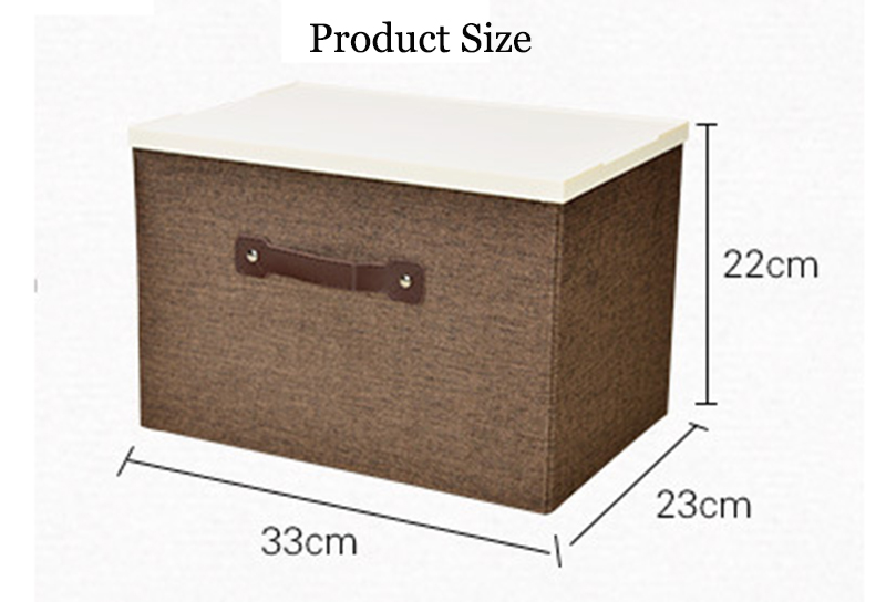 Factory Wholesale Cloth Organizer Home Storage Box with Plastic Lid