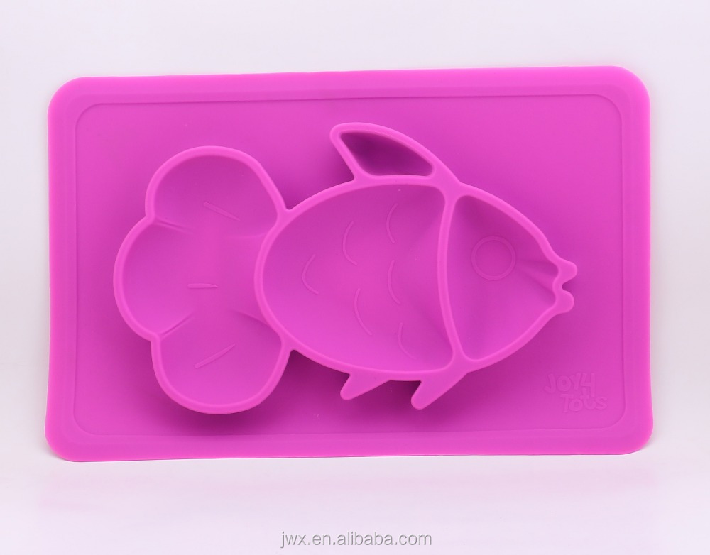 Infants silicone placemat portion control portion plate