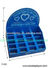 Customized counter display for music box promotion 20 cells