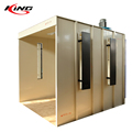 fast color change powder coating spray booth