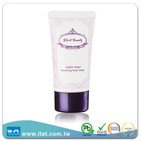 Eco-friendly glossy cosmetic oval tube with plating cap