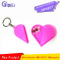 Cute Heart Shape Box led heart Storage Box Promotional plastic keychain