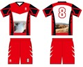 custom newest design hot sale men red team soccer jersey