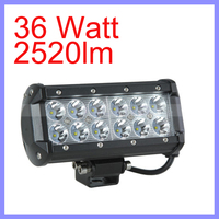 36W 12 LED 2520lm Brightness Aluminum Bracket LED Light Bar Car