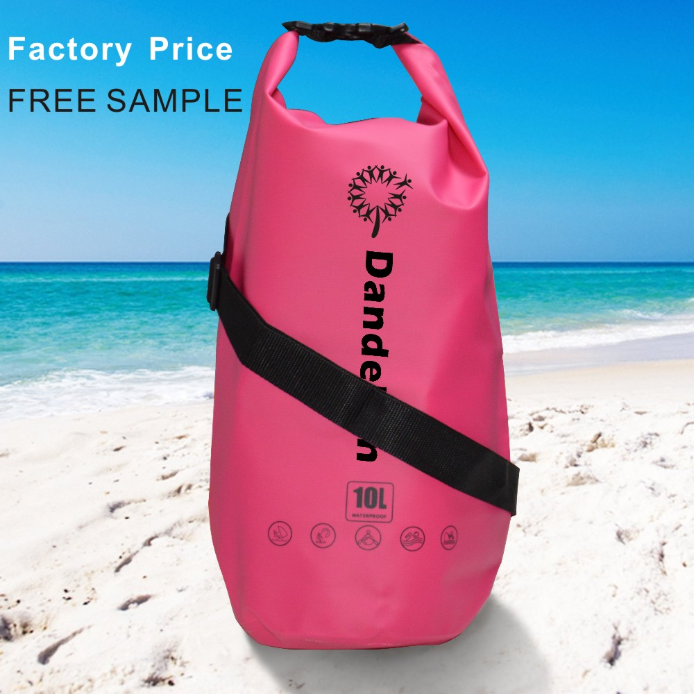 500d pvc tarpaulin waterproof camping gym sports backpacks army custom logo dry bag