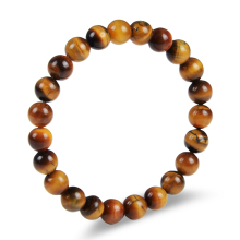 Fashion design 8mm tiger eye natural stone beads stretch bracelet jewelry