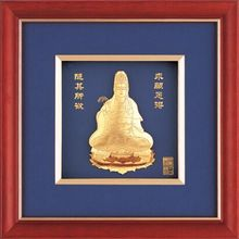 Gold foil indian god picture with frame Buddha picture frame 6x6 picture frame