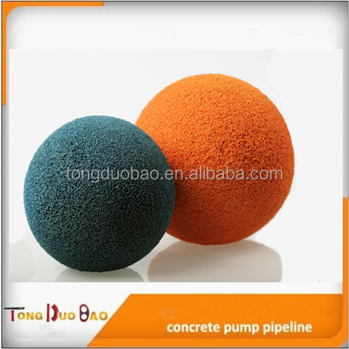 Sany DN125 concrete pump pipe / tube cleaning ball