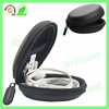 round black eva waterproof earphone case with plastic zip puller
