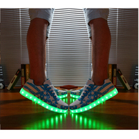 Male and female couple sports shoes factory wholesale trade AliExpress product Light emitting colorful shoes