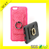 TPU and PU phone covers case with ring stand holder for iPhone case
