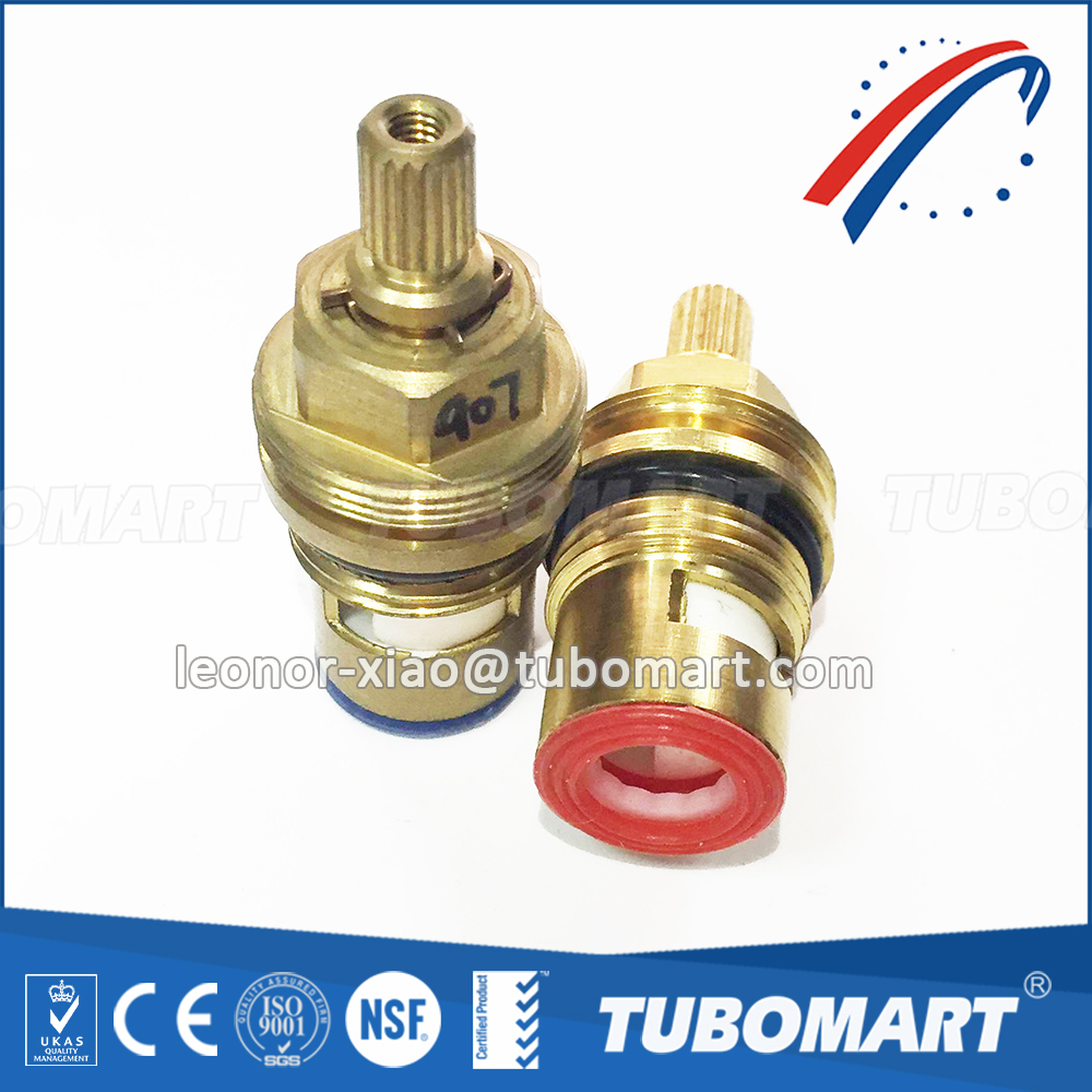 Tubomart TM-350 seie Fast open Faucet disc ceramic cartridge core angle valve handles stem and brass cartridges 15-year OEM
