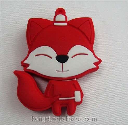 Fox animal shaped usb flash drive