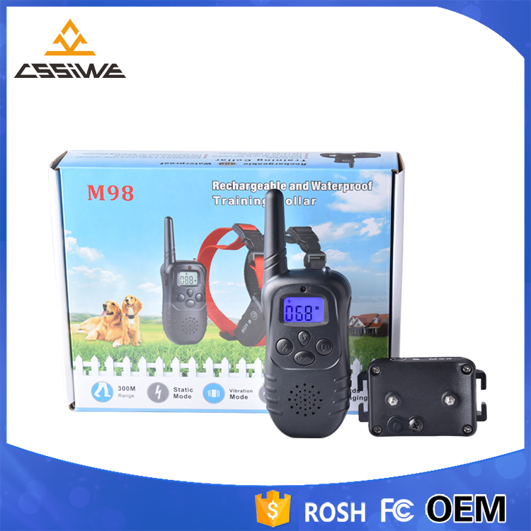 2017 hot sell Lcd Remote Bark Control Electronic shock dog training collar with multifunction