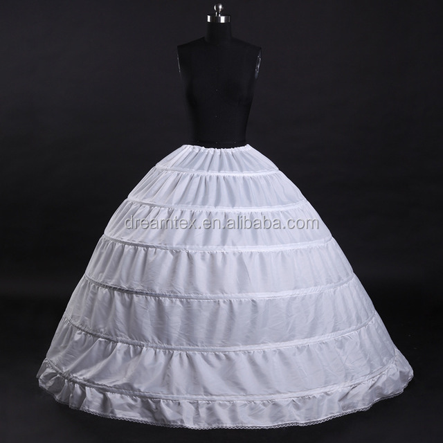 Wholesale large 6 hoop under skirt support   bride wedding dress ball gown  petticoat