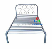 Hot sale home used furniture metal frame single cot bed