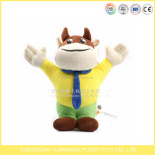 Cute funny soft stuffed plush animal toy milk cow